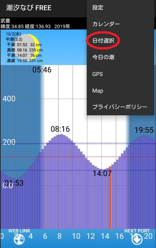 潮汐なび日付01
