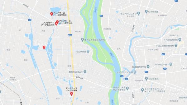 五三川の駐車場の地図