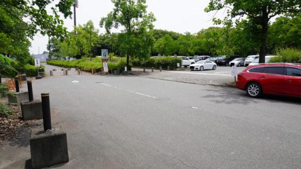 稲永公園の駐車場入り口