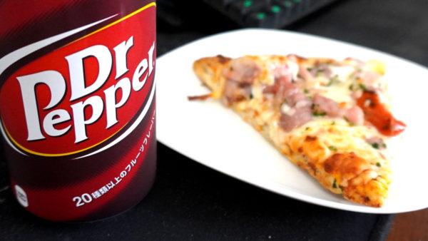 ドクターペッパーとピザ